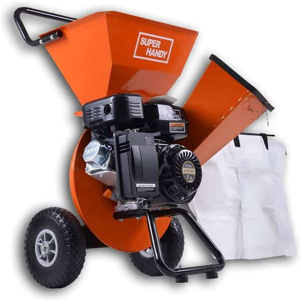SuperHandy Gas Powered Wood Chipper Shredder Mulcher