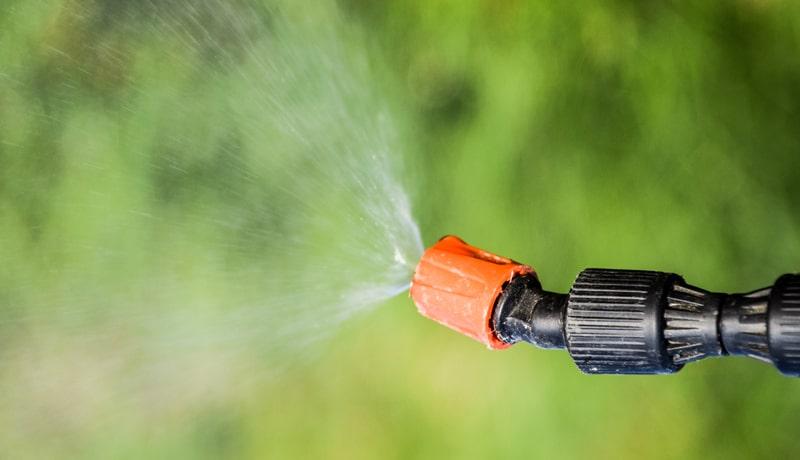 Spraying Liquid Lawn Applications