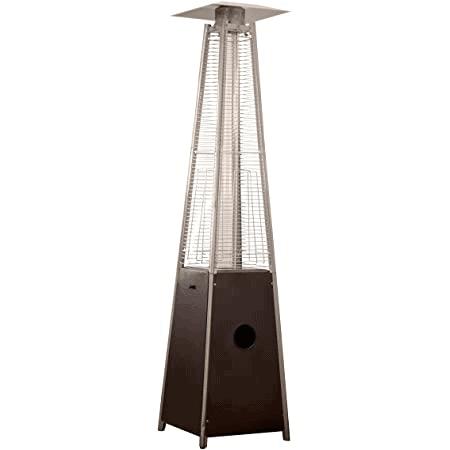 True Commercial 3-Sided Pyramid Quartz Tube Patio Heater