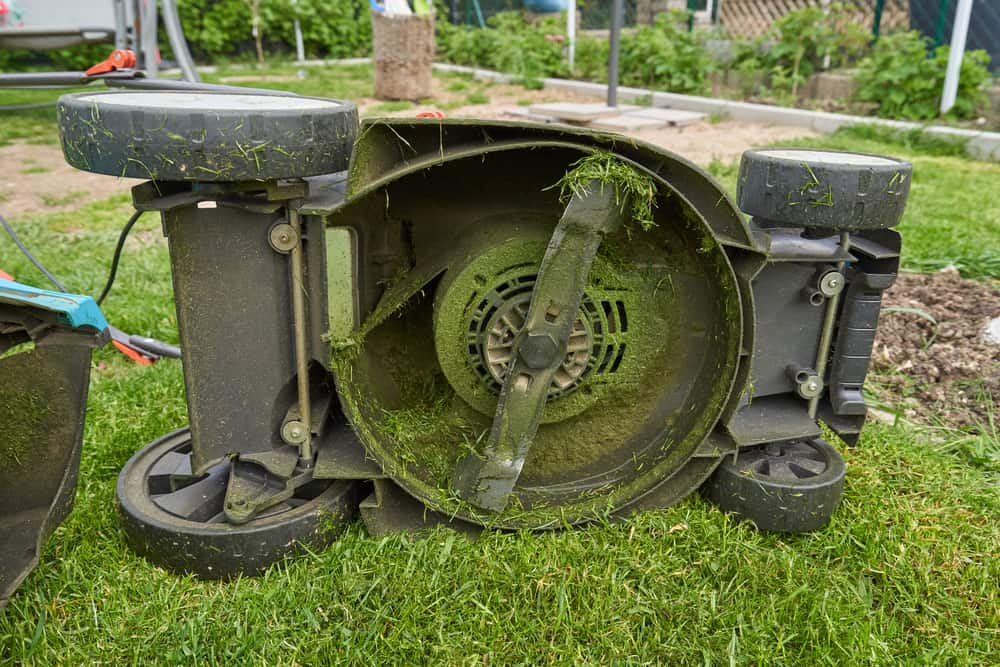 Clogged Lawn Mower